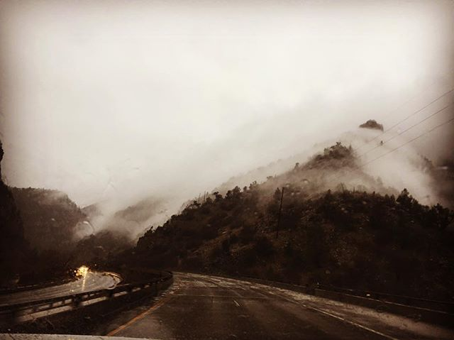 Glenwood Canyon at the end of a storm (forgot to post it in April)  #fog #clouds #rain #canyon #glenwood #colorado #springtimeintherockies🗻