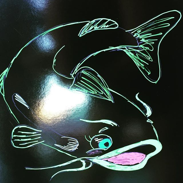 A nicely done catfish we saw on a sign. Had to take a pic.