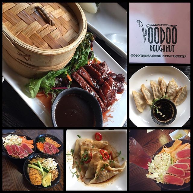 You can tell what we don't get to eat in GJ, because we are drawn to it when we leave town….. (well, except the donuts. We have a pretty good bakery here!) #sushi #pokebowl #asianfood #unclejoes #unclejoeshongkongbistro #voodoodonuts #motomaki