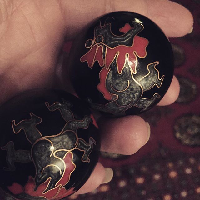 Have you ever used Chinese health balls? It's a little bit amazing how addicting these things can be! And the chiming is pleasant…