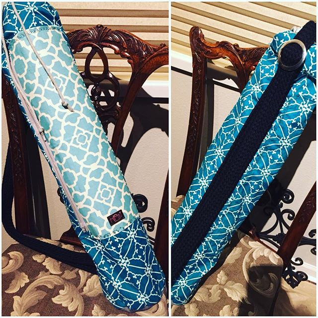Completed yoga mat bag for Miss Mo! #mimsibags