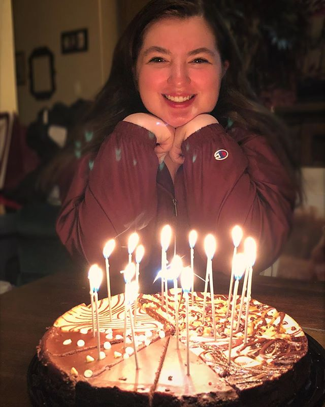 We finally got around to birthday cake & candles last night. It's still sinking in that she's 18!!!