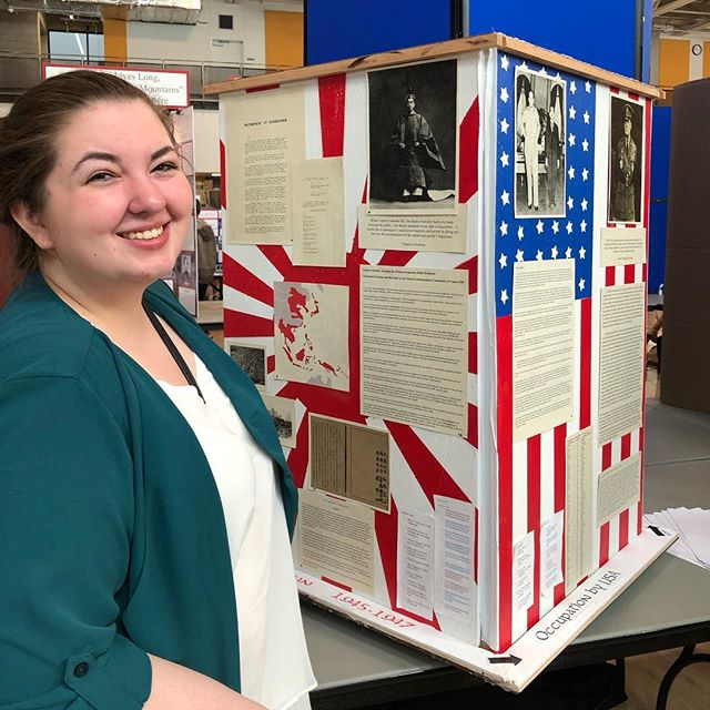 "National History Day State Competition! #gomorgan #goeagles ""The Rebuilding of Japan"""