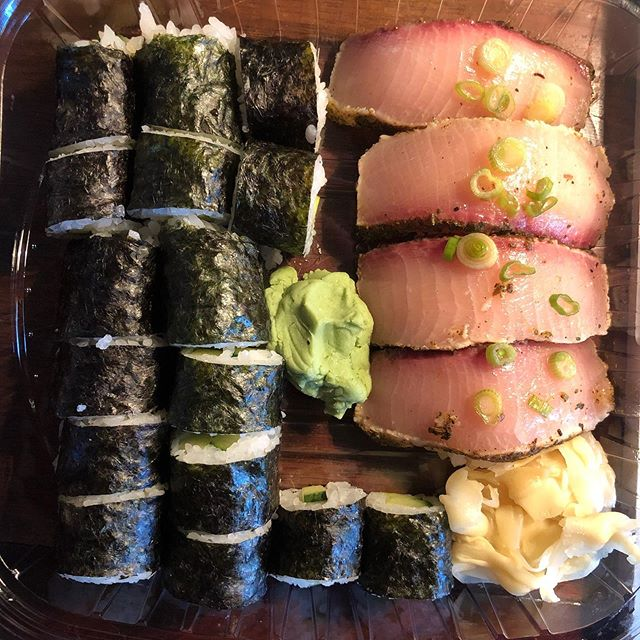 Aesthetics are important, even if it's just take-out.  Tasting amazing helps too!  Thank you Suehiro!  #sushi #japanesefood #aestheticallypleasing  #westslopebestslope #foodography