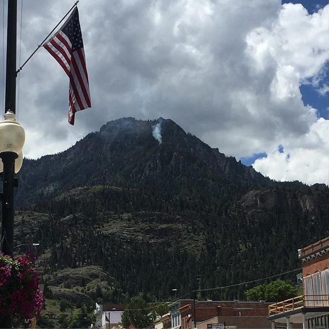 A rather concerning sight as we were headed out of Ouray this afternoon… I hope they contained whatever it was!
