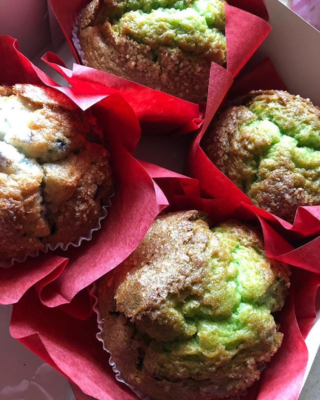 "The bagger at Safeway last night was concerned for me. ""These are green. Why are they green?"" The cashier knew what was up though. ""Those are pistachio! They are SSOOOOO GOOD!!!"" ""But they are green. What do they even taste like?"" Spreading the love of pistachio muffins around, one poor, uneducated soul at a time.  #pistachio  #pistachiomuffins #muffins"
