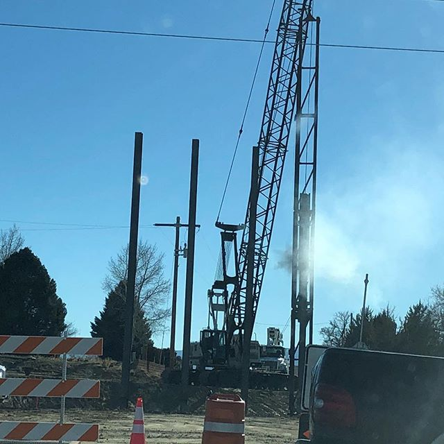 It's interesting to see how they are rebuilding this bridge… even though it makes it a bit of a challenge to get where I need to go. #roadconstruction #bridgeout