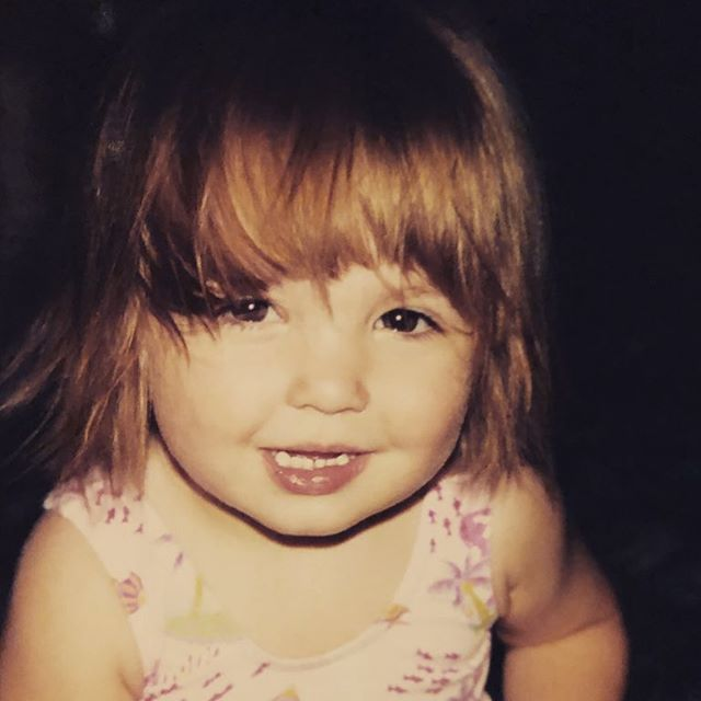 We've been going through baby photos for the yearbook & came across this gem. Ain't she adorable?