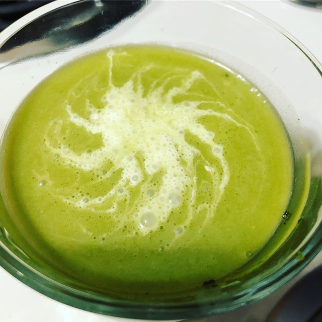 Matcha latte – just missing some ice (because I was lazy)